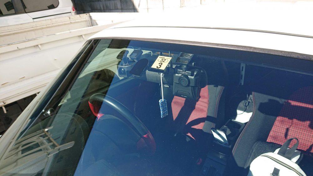ドライブレコーダー取り付け位置