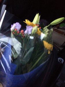 納車式でもらった花